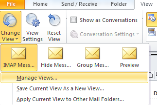 Outlook 2010 View Manager